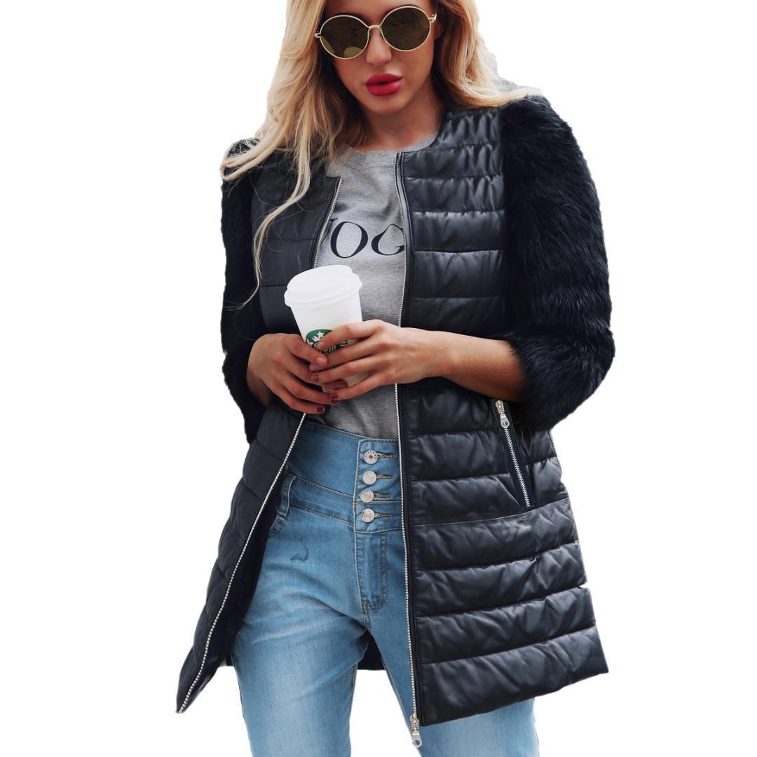 eabb86b10816da Großhandel Winter Neue Frauen Lange Leder PU Baumwolle Jacke Mantel  Weibliche Mode Pelzhülse Dicke Baumwolle Schlank Windbreake Faux Pelzmantel  T0705 Von ...