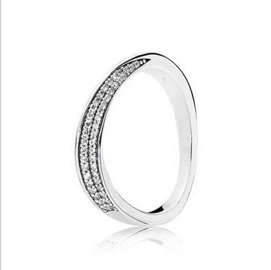 6ddd1e21d 2016 New Fashion Elegant Pandora Style Ring Waves Crystal Ring ...