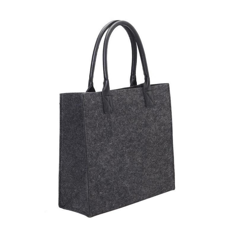 bd02431bf98a Felt Shopping Shoulder Storage Hand Bag Handbag Shopper Tote Bags Eco  Friendly Bag For Women Ladies Purse Handbags Pouch Totes Black Handbags  Weekend Bags ...