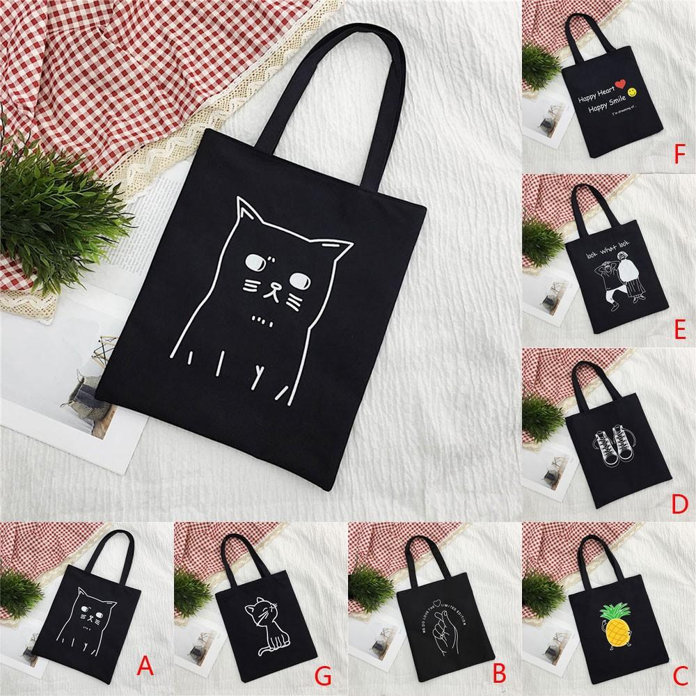 Women Canvas Handbag Printed Shoulder bag Capacity Beach Tote Shopping Handbags Dropshipping Bolsa de ombro das mulheres#40