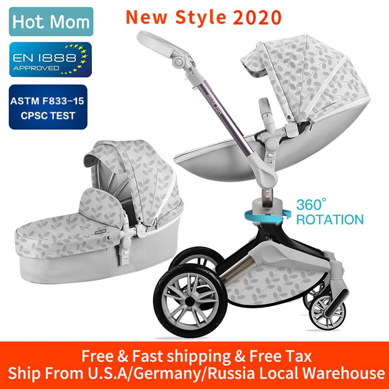 2020 Hot Mom Baby Stroller 3 In 1 Travel System With ...