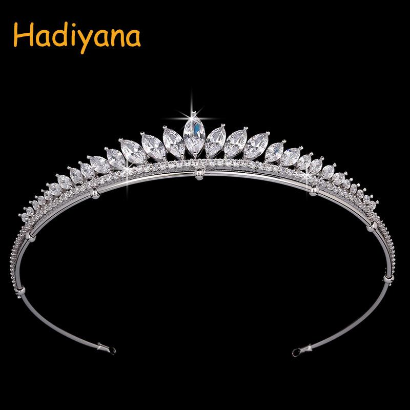 wholesale Fashion Hair Jewelry Crown Party Hairbands Luxury Cubic Zirconia Headpiece Accessories Tiaras Crowns For Women HG0002