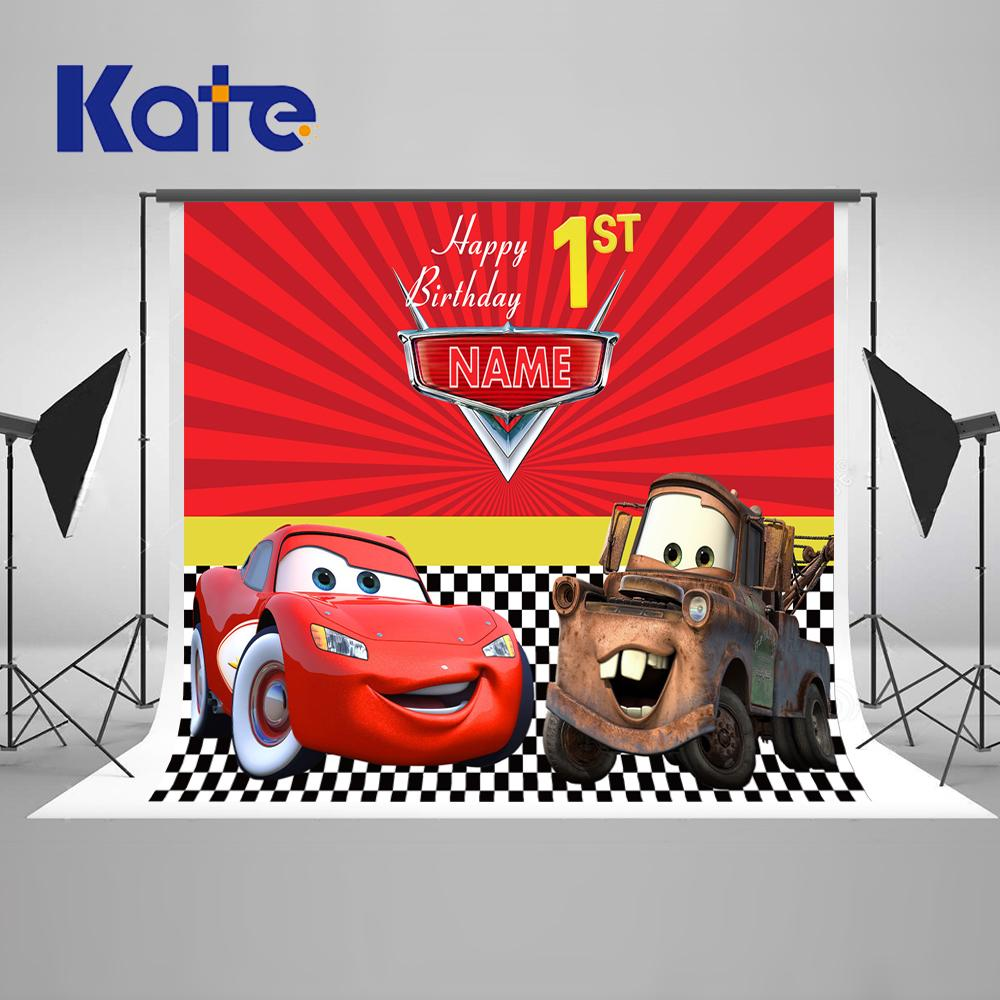 2019 Kate Boy Girl Photography Backdrop Red Cartoon Movie Characters
