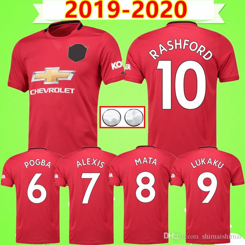 new photos 7afe5 b3b2a NEW Arrive 2019 2020 FC United Soccer Jerseys LINGARD SOLSKJAER POGBA  LUKAKU RASHFORD ALEXIS MAN MATA UTD man Football shirts uniforms 19 20