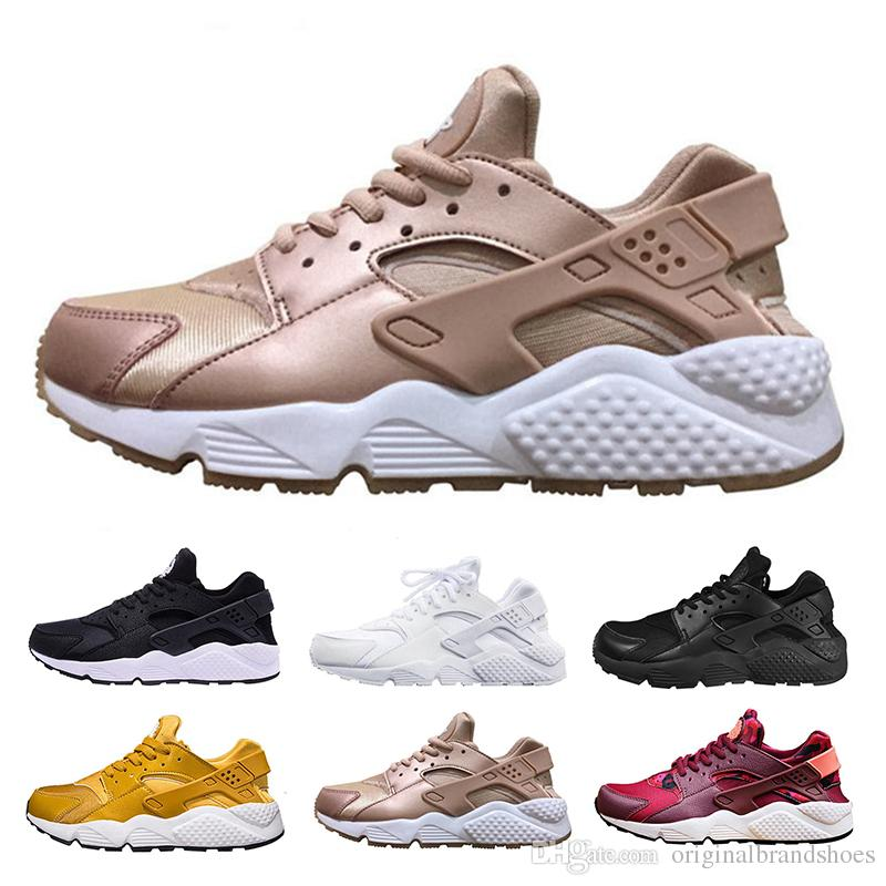 020b842f9353 2019 Air Huarache 1 Running Shoes For Men Women Rose Gold High Quality  Sneakers Triple Huaraches Trainers Huraches Sport Shoes Size 36 46 From ...