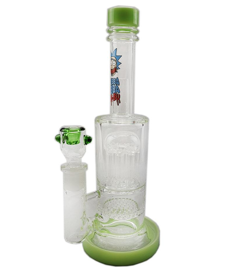 Dhzhaoshop Colors 8Arm Tree Percolator Honeycomb Diffuser Glass Bong Dab Rig Thick Oil Rigs Smoking Hookah Female Joint Glass Bong