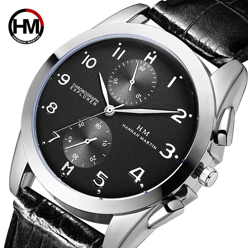 Men Watch Fashion Business Quartz Top Bradn Luxury Sport Watches Male Leather Strap Wristwatches Waterproof Relogio Masculino