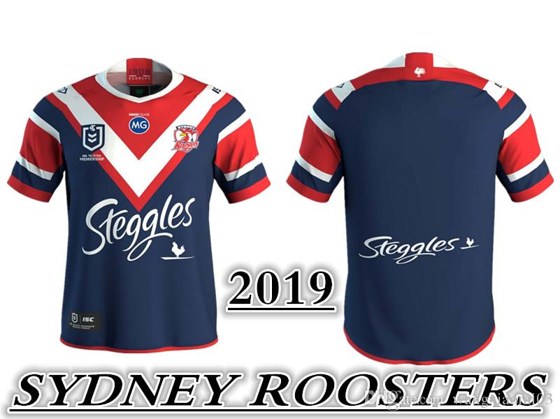 f6154922bc2 2019 Sydney Roosters Rugby JERSEY Size S-3XL Brisbane Broncos WESTS ...