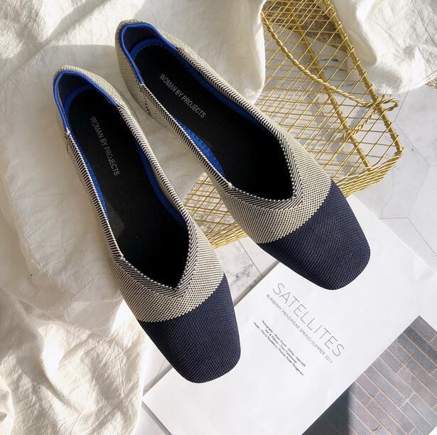 10848ddd2 Compre Mujer Boca Baja Ballet Zapatos Embarazados Dedos Cuadrados Talón  Plano Parte Inferior Suave Zapatos De Trabajo Casual Zapatos De Trabajo De  Primavera ...