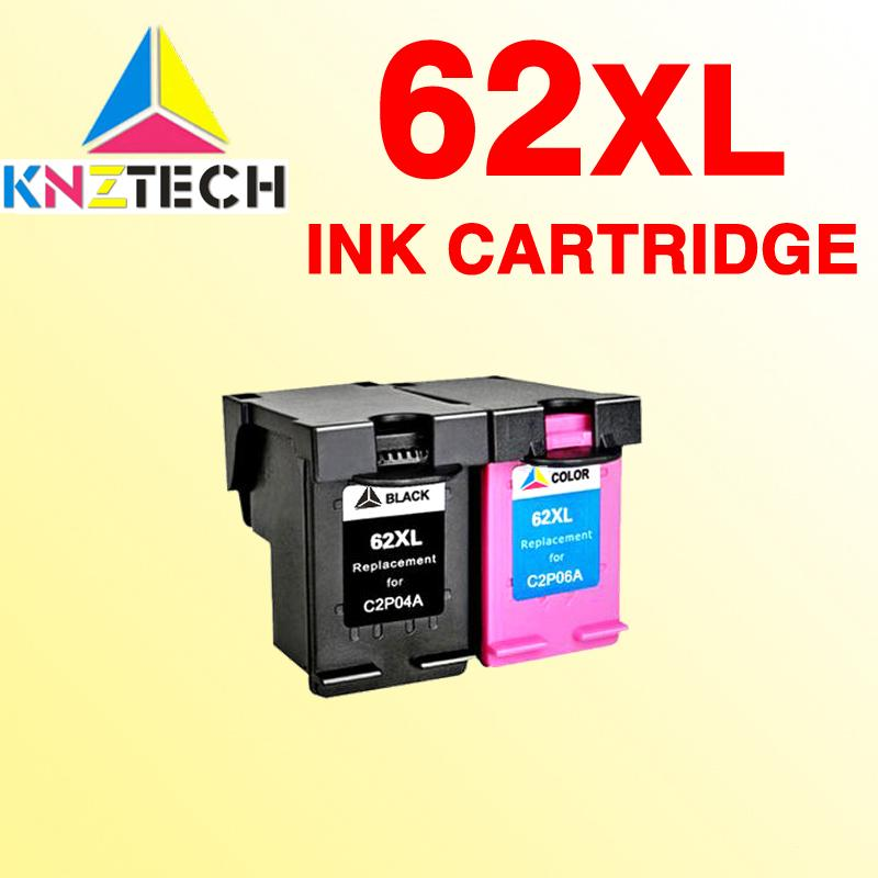 2x 62XL Ink Cartridge compatible For 62 Officejet 5740 5741 5742 5743 Envy  5640 5660 7640 5540 5544 5545 5546 5548