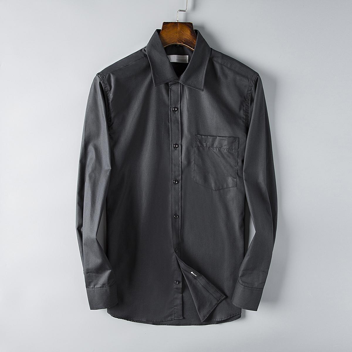 cc58d5be644da5 France Brand Mens Shirts Casual Paris Business Shirt Long Sleeve ...