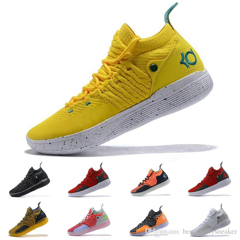 129ac0366a1c9b 2019 2019 New KD 11 Mens Basketball Shoes EP White Orange Foam Pink  Paranoid Oreo ICE Kevin Durant XI Mens Trainers Designer Sneakers 40 46  From ...