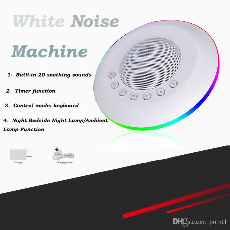 White Noise Sound Machine Device,Timer Setting for Baby and Adults Sleep  Disorders & Noise Cancelling Home,Office