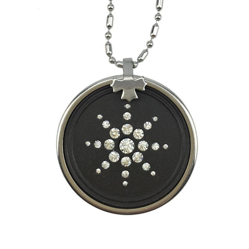 Anti EMF Radiation Pendant Necklaces Stainless Steel Round Crystal Volcanic  Stone Lava Round Bio Scalar Energy Quantum Necklace