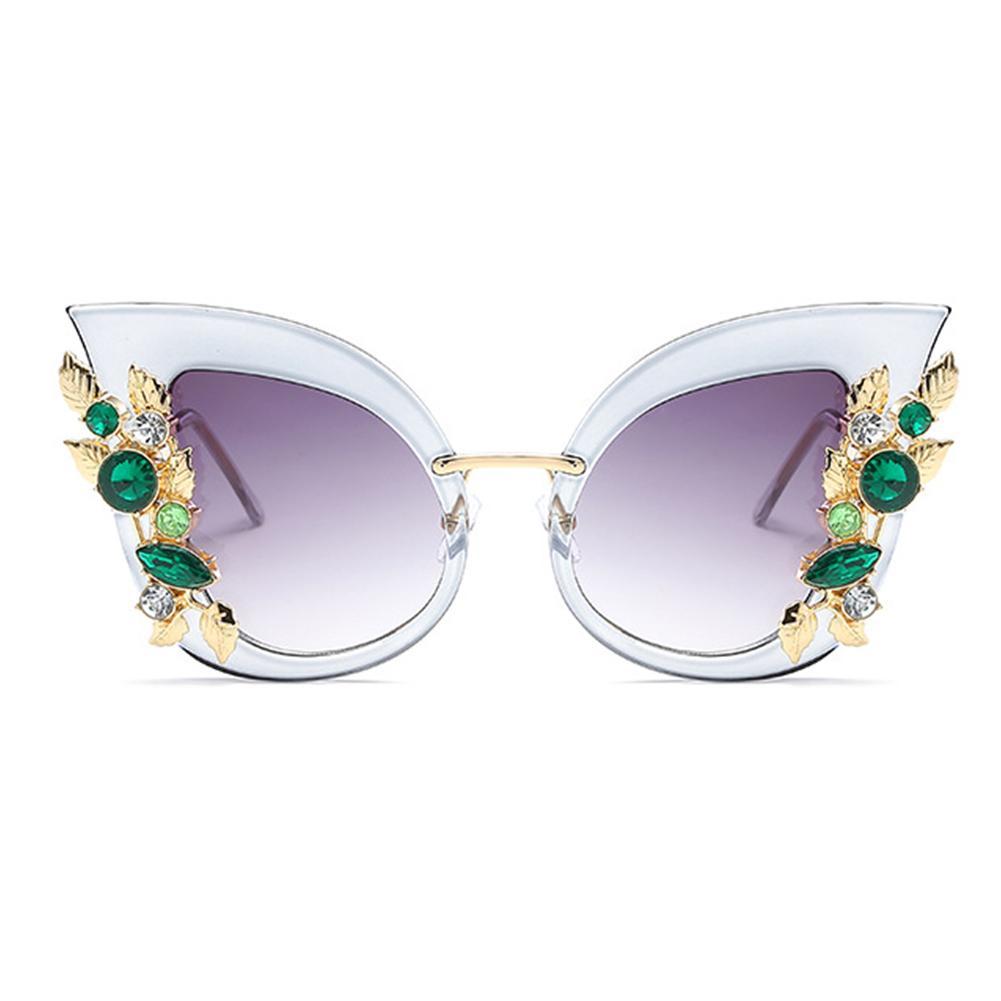 02f3fb73f30 Women Personality Sunglasses Ladies Fashion Diamond Metal Sunglasses High  Definition Eyewear Summer Beach Round Glasses Designer Glasses From  Watchesjewelry ...