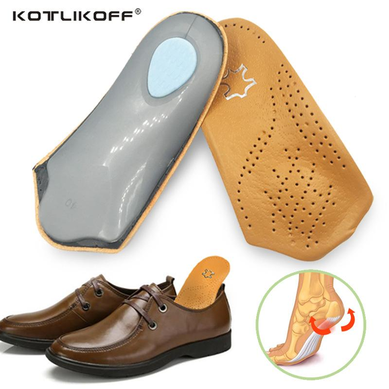 a9547546cb 2019 KOTLIKOFF 3/4 Length Leather Insole Flat Foot Orthotic Insoles Arch  Support 2.5cm Half Shoe Pad Orthopedic Insoles Foot Care From Xiamenshoes,  ...
