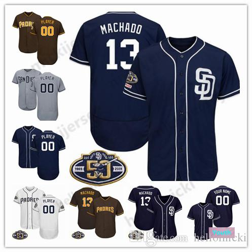 classic fit 9bd31 6be8c San Diego 19 Tony Gwynn 2019 Padres 50th Jersey Custom Any Name Any Number  4 Wil Myers 31 Dave Winfield all stitched jersey