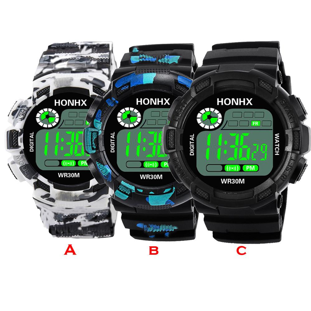 Luxury Men Analog Digital Military Army Sport Led Waterproof Wrist Watch Women Sport Watch Silicone Electronic Watch Waterproof Men's Watches