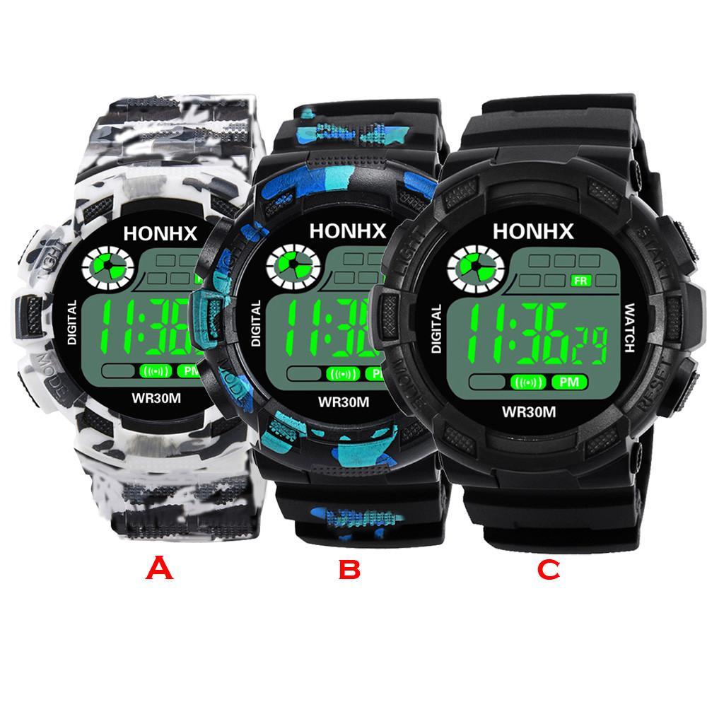 e2dd93f6c506 Compre Camuflaje Del Ejército Militar Reloj Digital Hombres Pantalla LED G  Estilo De Lujo Relojes Deportivos Relojes Masculinos Electrónicos Para  Hombre A ...