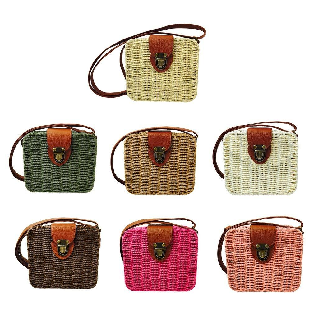edb95f1011c Designer 2019 Summer Small Women Straw Bags Rattan Woven Beach Shoulder Bags  Ladies Crossbody Tote Handbag Female Bohemian Handmade Bolsa Luxury Bags ...