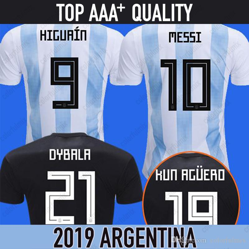 the latest 4201b 4e941 2018 argentina jersey MESSI jersey world cup 2018 argentina soccer football  shirt DYBALA DI MARIA HUGUAIN BIGLIA aguero survetement foot