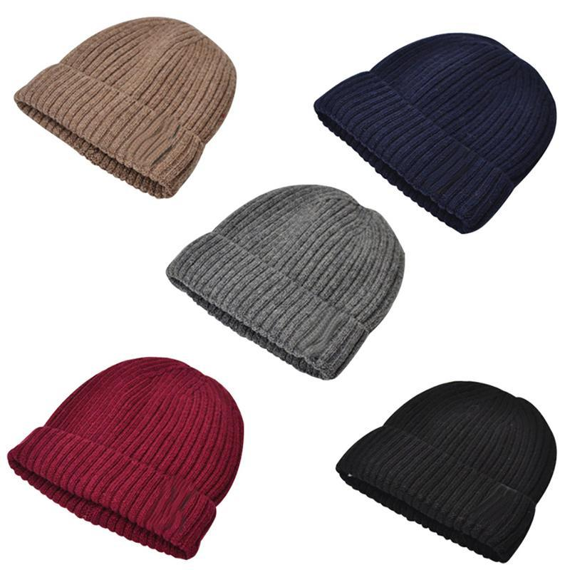 b65e3e54fbe 2019 Knitted Thermal Hat Men Fleece Lined Woolen Hat Thickened Woolen  Stylish Ski Autumn And Winter Warm From Cbaoyu