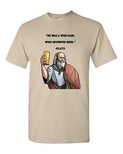 Summer T Shirts He Was A Wise Man Who Invented Beer Plato Gifts