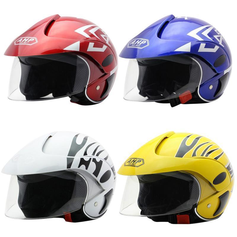 Electric Motorcycle Helmet For Harley Half Helmet Men Women Kid Four