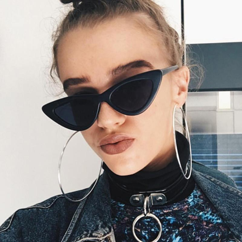 Apparel Accessories Women's Sunglasses Lower Price with Sun Glasses Trend Personality Triangle Frame Cats Eye Color Coating Uv400 Womens Sunglasses Men Women Seventeen Oculos De Sol High Quality And Inexpensive