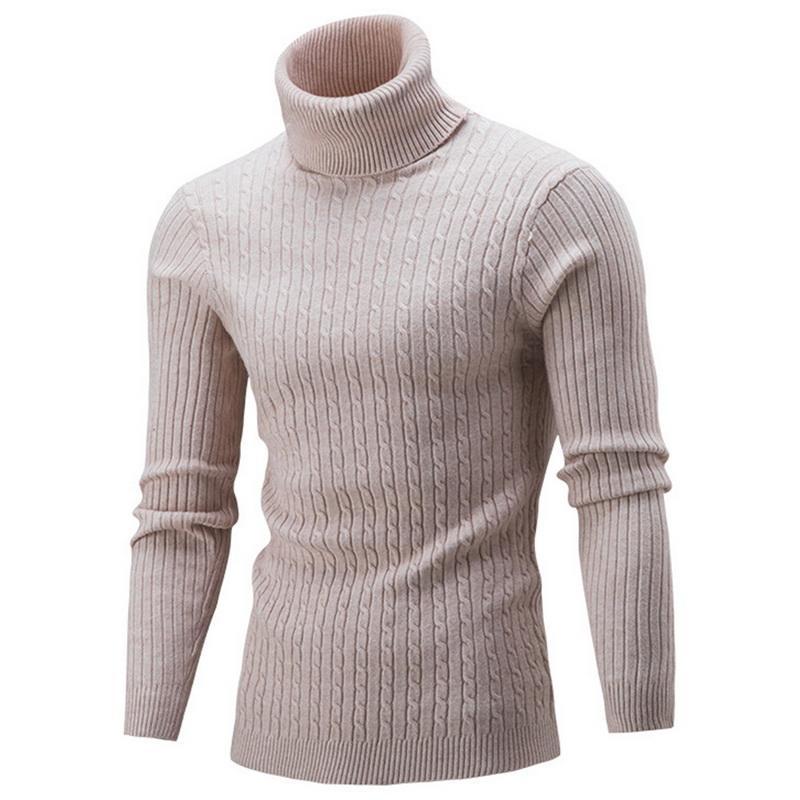 weltweit verkauft billiger Verkauf großer Rabatt Puimentiua 2018 Herbst Winter Herren Pullover Herren Rollkragenpullover  Einfarbig Lässige Pullover Slim Fit Marke Gestrickte Pullover