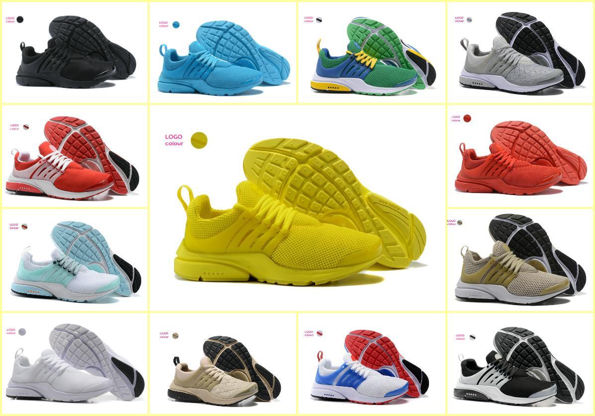 55dc206f6a Compre 2018 TOP PRESTO 5 BR QS Breathe Negro Blanco Amarillo Rojo Zapatos  Para Hombre Zapatillas De Deporte De Las Mujeres Zapatos Para Correr  Hombres ...