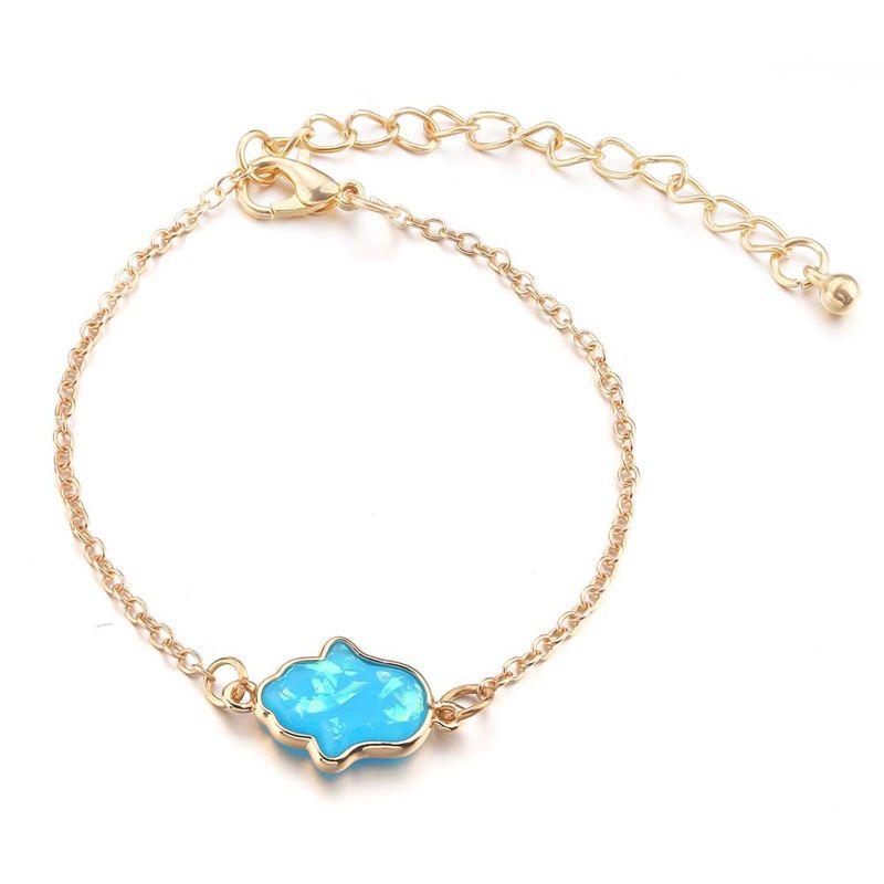 Hand of Fatima Bracelet Evil Eye Protection Charm Jewelry Lucky Success  Pendant Friendship Handmade Bracelet Men Women
