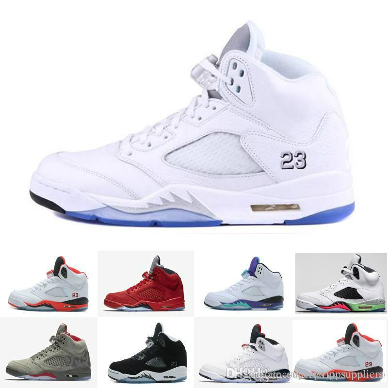 info for fd4c1 d45ed With BoxNew Men Basketball Shoes Sneakers 5 Mens Sports White Olympic  Cement 5s V Tennis Trainers China Brand Wholesale Zapatos Kids Basketball  Shoes ...