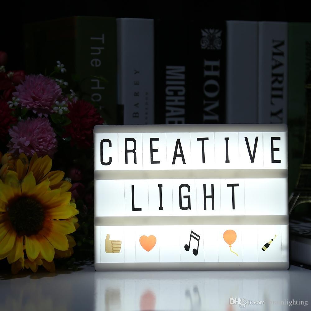 Alimenté Cartes Babillard Lightbox Light Pour Diy Lampe Cinéma Décoration Led Box Lettres Night Intérieure Lightme La Usb 1JlKT5uFc3