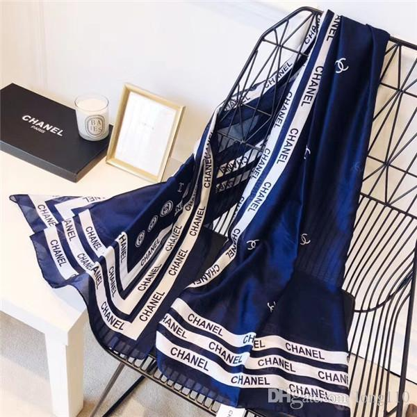 3bc8d49e 2019 High-end Women's Monogram Silk Spring And Summer Scarf Shawl  Fashionable Style Beautiful Elegant Wear Zzai Silk Scarf Women Scarf Spring  Summer Silk ...