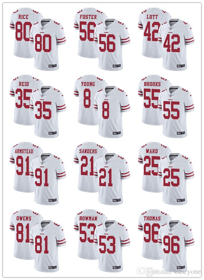 online store bb6c4 958b7 San Francisco 49er jersey 69 Mike McGlinchey 25 Richard Sherman 10 Jimmy  Garoppolo 16 Joe Montana 56 Reuben Foster men jersey