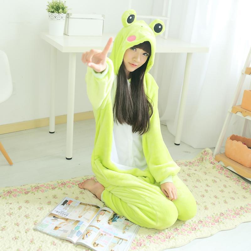 c1cbe86a4175 Flannel Kigurumi Animal Men Green Onesie Jumpsuit Adult Carnival ...