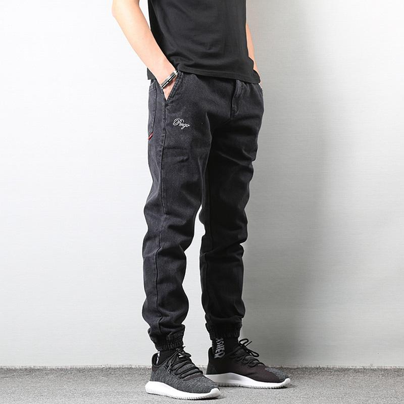 1e786fe64a ... New Kanye West Justin Bieber Streetwear Hip hop swag Uomo Jeans Neri ·  Acquista ...