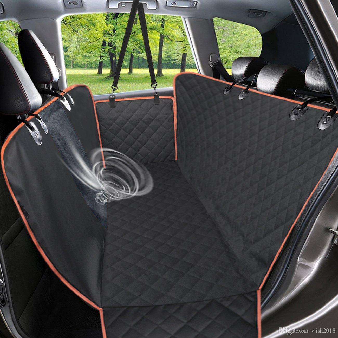 Dog Car Seat Covers For Back Seat Trucks Suv Waterproof Dog Car Hammock With Mesh Window Side Flaps Large Backseat Cover Home & Garden