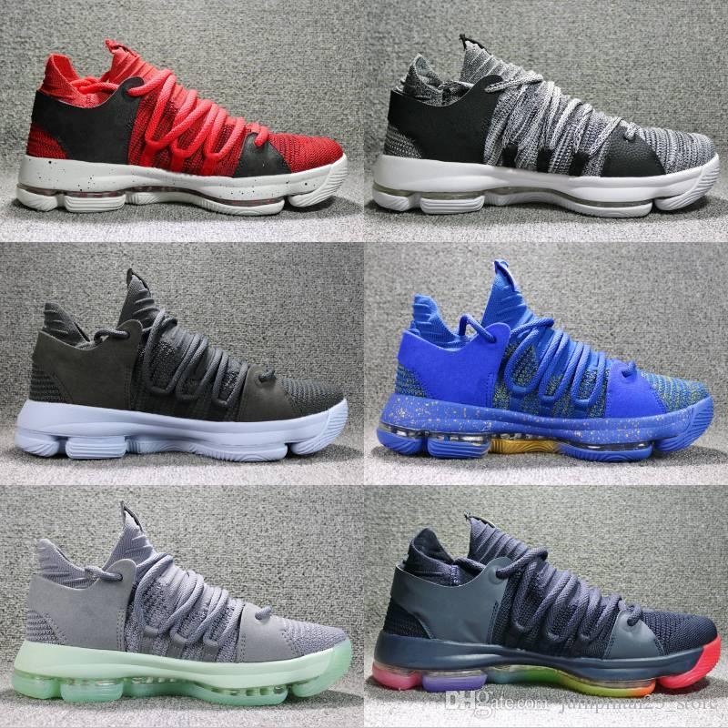 the latest ce810 e671b Cheap brand KD 10 Anniversary University Red Still Kd Igloo BETRUE Oreo Men  Basketball Shoes Kevin Durant Elite KD10 Sport Sneakers Kd X