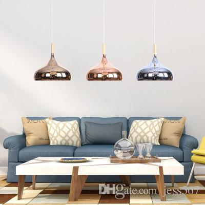 Nordic Post-modern Rose Gold Chrome Pated Chandelier Dining Room Bedroom Living Room iron Simple Coffee Shop lamps Free Shipping