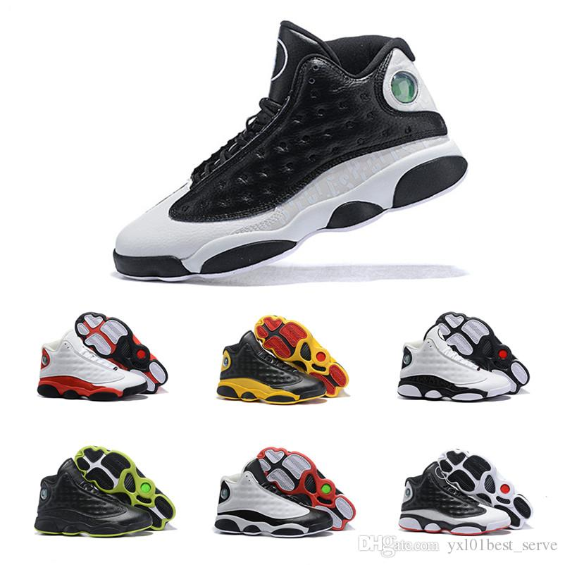 854fcdd46b31 2019 Hot Sale Jumpman XIII 13 Mens Basketball Shoes for High Quality Black  Yellow Red White Chaussures Sports Sneakers Classic Trainers 7-12 Jumpman  13 ...