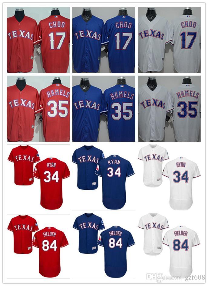 best service f1856 7b772 custom Men's women youth Texas Rangers Jersey #17 Shin-Soo Choo 34 Nolan  Ryan 35 Cole Hamels 84 Prince Fielder Grey White Baseball Jerseys