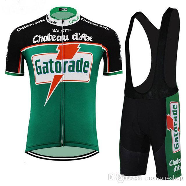 Chateau D Ax Gatorade Mens Team Ropa Ciclismo Cycling Clothing MTB Bike  Clothing  Bicycle Clothes 2019 Cycling Uniform Cycling Jerseys A59 Cycling  Rain ... 09474f079