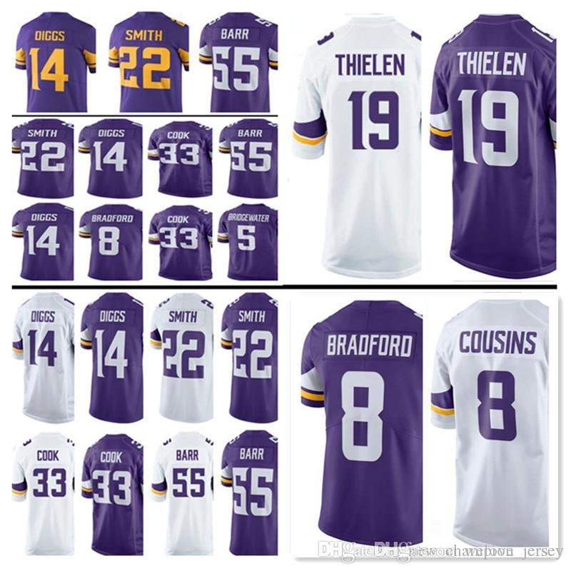 e22320704 2019 Minnesota Jersey Vikings 19 Adam Thielen Mens 14 Stefon Diggs 8 Kirk  Cousins 84 Randy Moss 22 Harrison Smith 33 Cook Jerseys From Welove jersey