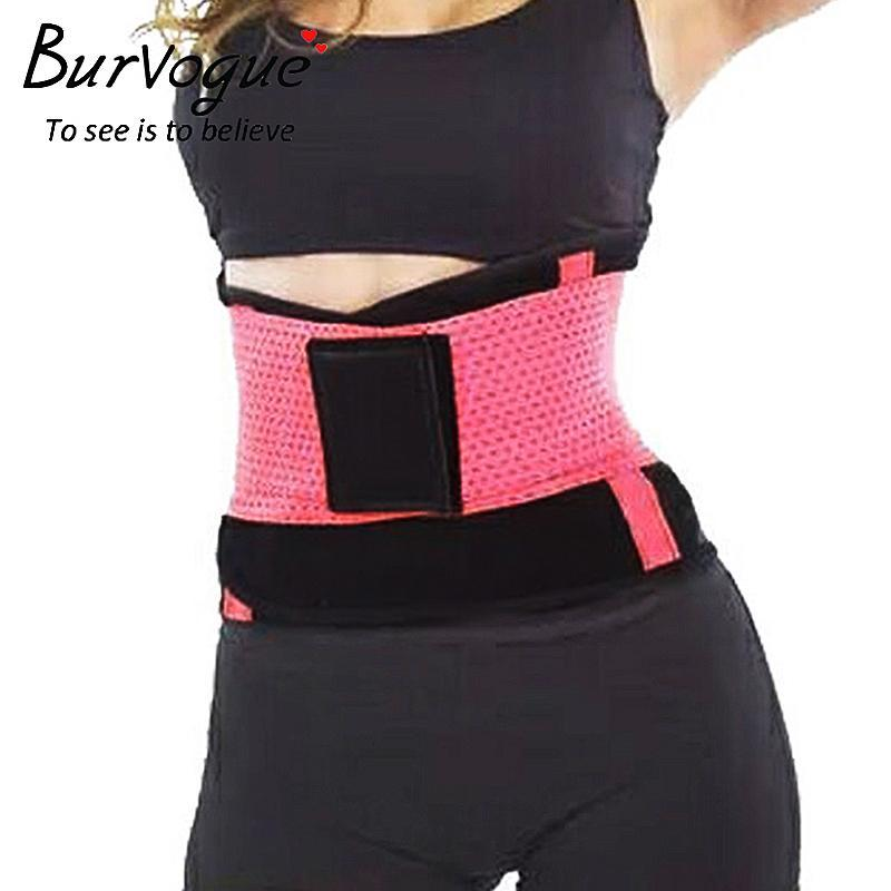 7a59bcf2bf4a0 2019 Burvogue Hot Shapers Women Body Shaper Slimming Waist Shaper Belt  Girdles Firm Control Waist Trainer Cincher Plus Size Shapewear From Namany
