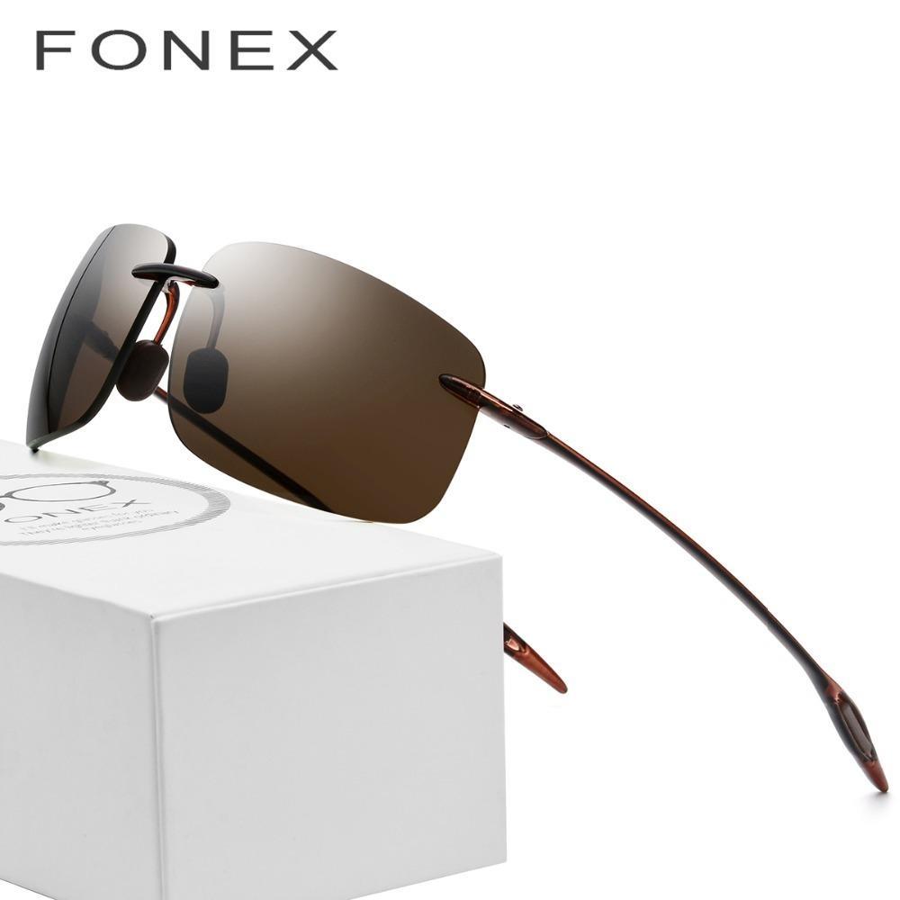 3df3992cfff6 Ultem Tr90 Rimless Sunglasses Men Ultralight 2018 High Quality Square  Frameless Sun Glasses For Women Brand Designer Nylon Lens C19022501 Fastrack  ...