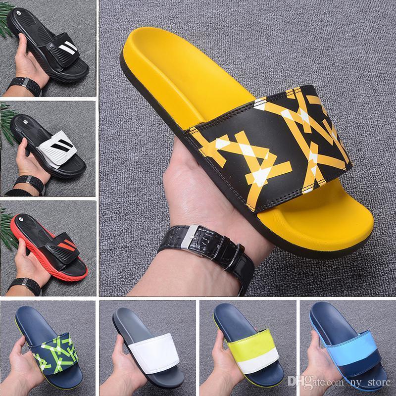 5bdda5e89 2019 Slipper Designer 2019 Gear Bottoms Mens Striped Sandals Causal ...