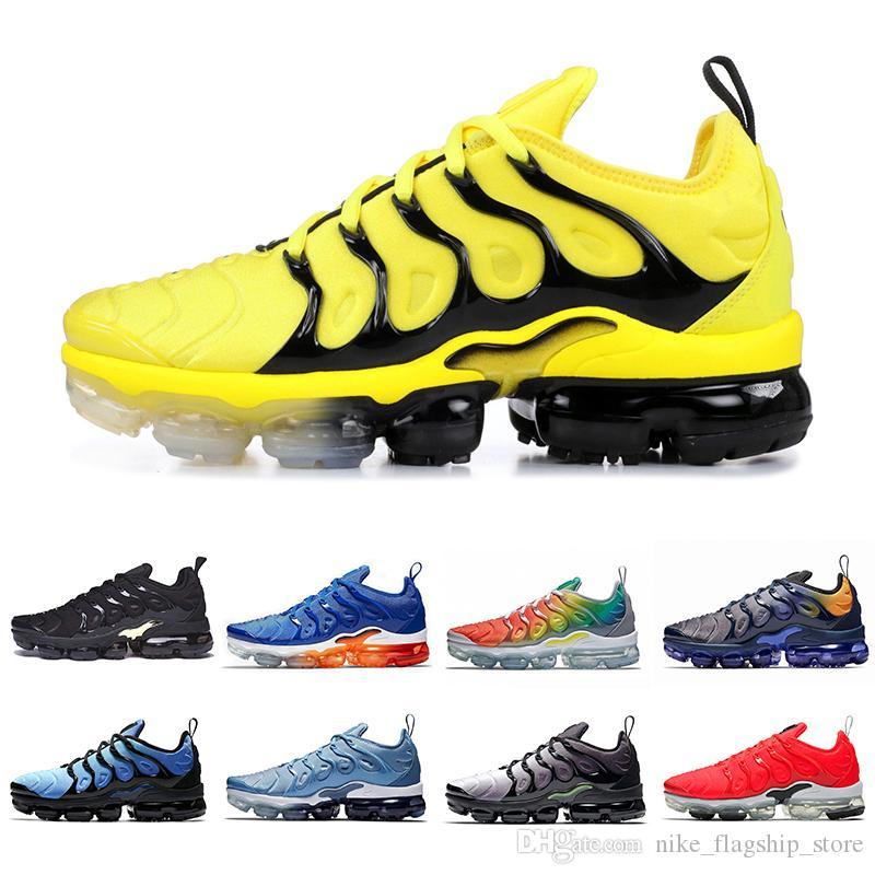 quality design 4c3bf 9452f 2019 Fades Blue Rainbow TN Plus Men Women Running Shoes Zebra Game Royal  Hyper Blue Mens Black Green Volt Sports Sneakers 36 45 Shoe Sale Running  Spikes ...