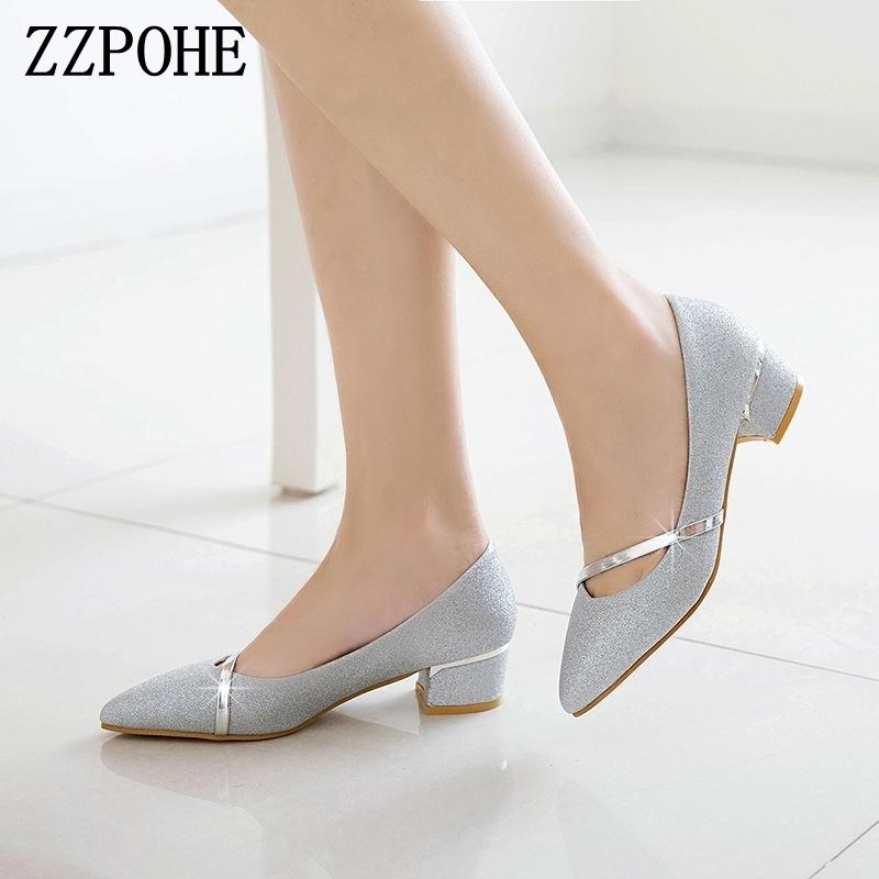 b97ab81b67c 2019 Spring Fashion Women Pumps Pointed Toe High Heels Office Lay Shoes  Female Handmade Shoes Women Slip On Footwear Work Shoes Summer Shoes Womens  Loafers ...